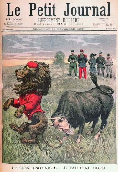 Le lion anglais et le taureau boer
