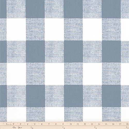 Premier Prints Anderson Cashmere Blue Buffalo Gingham Check Home Decorating Fabric