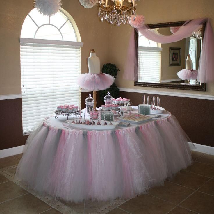 Luxury Tulle Tutu Table Skirt Custom Made Size And Color