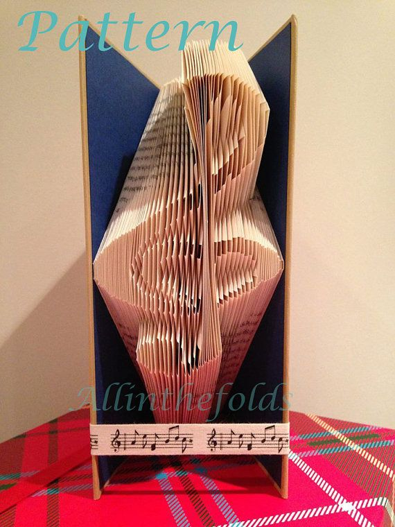 Treble clef with heart book folding pattern 312 pages