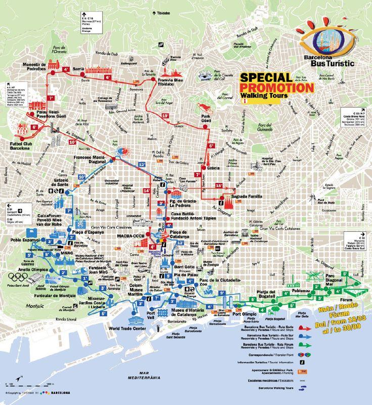 Barcelona Tourist Map - Barcelona • mappery