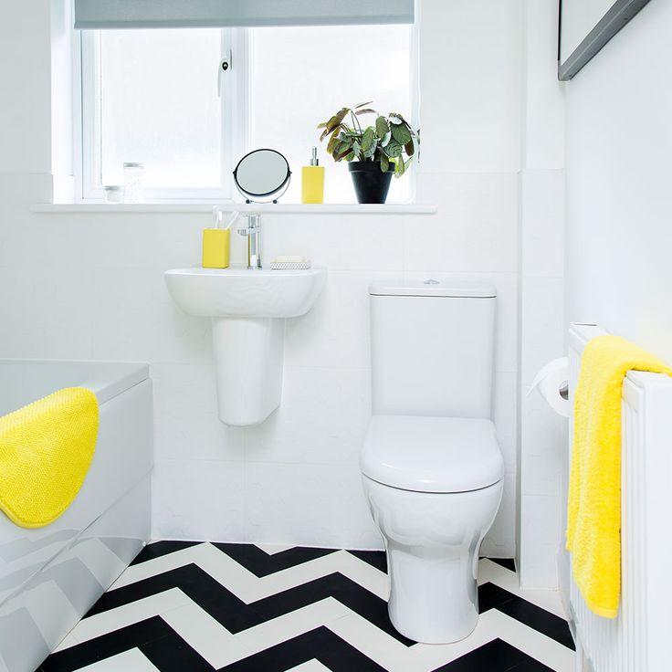 Geel   badkamer   accesoires   inpsiratie   yellow   bathroom   bewonen.nl