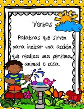 Parts of Speech / Las Partes de la Oracin / VerbosThis set has been designed to help students to understand and practice this basic part of speech in Spanish: Verbs (verbos)It includes 12 pages.