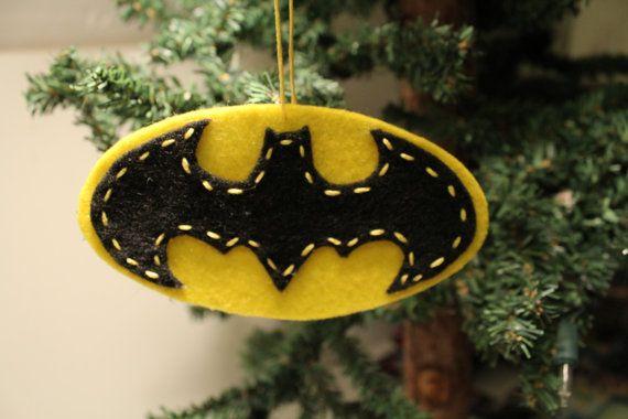 Batman Felt Christmas Ornament by VintageHummingbird on Etsy, $6.00