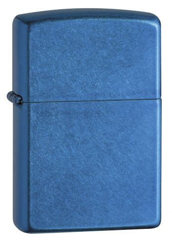 """Zippo Cerulean Windproof Lighter - 24534 by Zippo. $13.50. 24534 Cerulean Zippo Lighter. All Zippo lighters are made in the U.S.A. ande with a lifetime """"fix it FREE"""" warranty. If any Zippo product should ever fail just return it to Zippo mfg for a FREE repair. No sales receipt no questions. Just a simple no-nonsense warranty on a great American made product."""