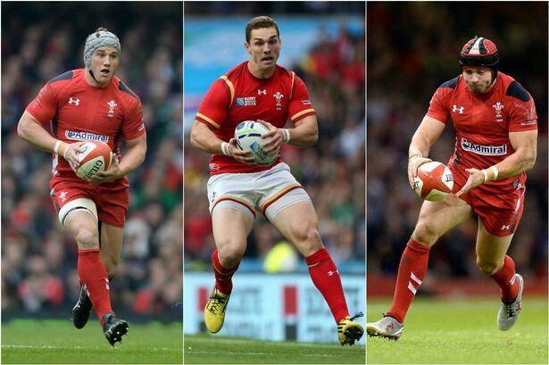 Jon Davies, George North, Leigh Halfpenny