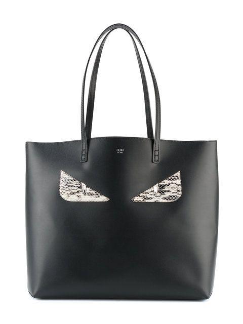 Shop Fendi Black Embellished tote bag at Browns.