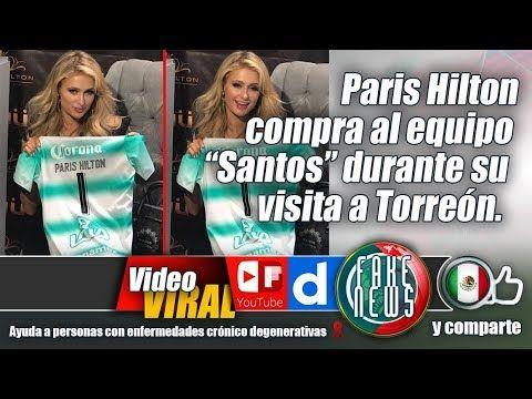 """Paris Hilton compra al equipo """"Santos"""" durante su visita a Torreón."""