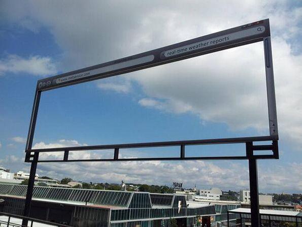 Un cartellone di un sito di previsioni del tempo che...non sbaglia mai! :D