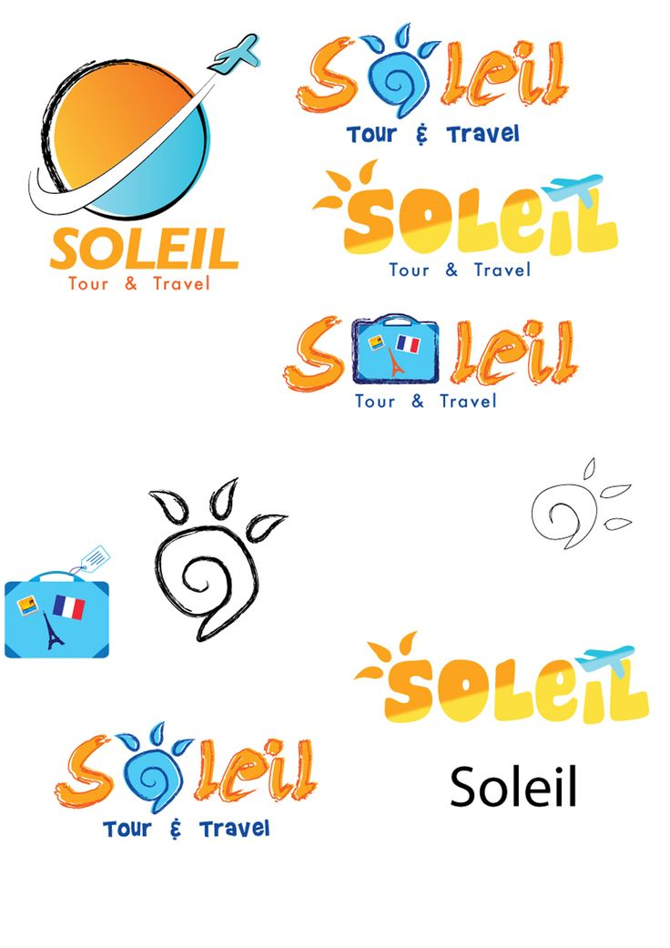 This just logo sketch. only draft. Soleil Tour & Travel. My client give key: Paris, Sun and Plane. I think my manual sketches look more complex so, only this I digitize. Media: Adobe Illustrator.