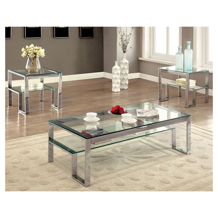 The Furniture of America Lyssa StepInspired Coffee Table