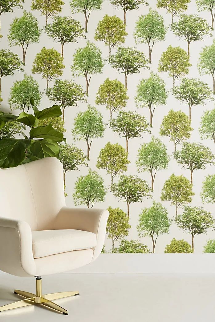 Magnolia Home Olive Branch Wallpaper in 2020 Tree top