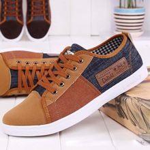 2014 new arrival plimsolls canvas shoes men breathable Fashion patchwork men's sneakers lace-up platform casual gumshoe RM-289(China (Mainland))