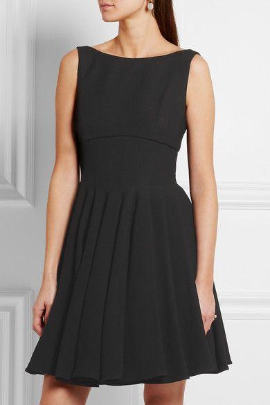 Miu Miu | Pleated cady mini dress | NET-A-PORTER.COM