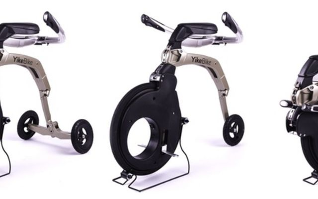 街中を自由自在に楽しむことができる電動三輪車「YikeBike」…米国発