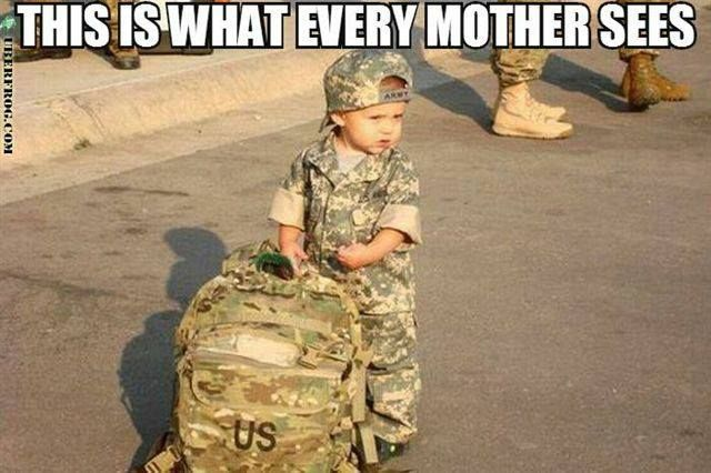 Omg I am keeping this for if my son ever decides to enlist. I know this is what I will see.