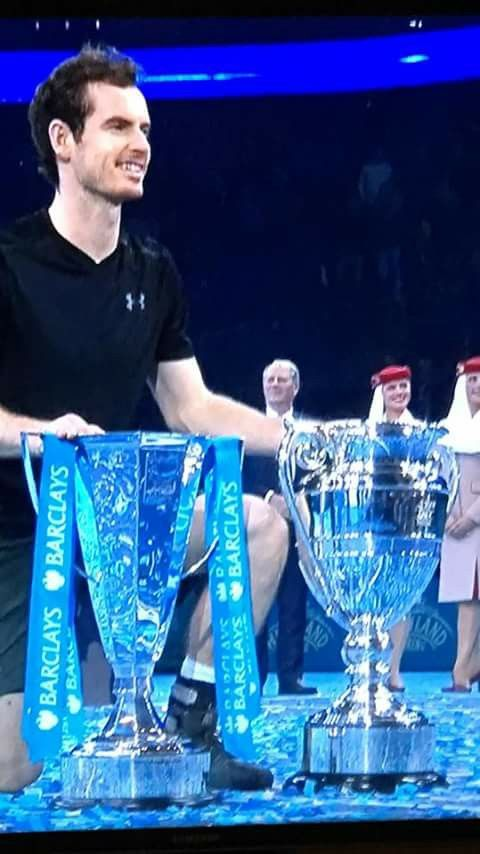 Andy Murray - at ATP World Finals cements his World Number 1  ranking November 2016 (beating Nole in 2 sets). Andy, the oldest man, at 29, to become World no. 1 for the 1st time in a career.