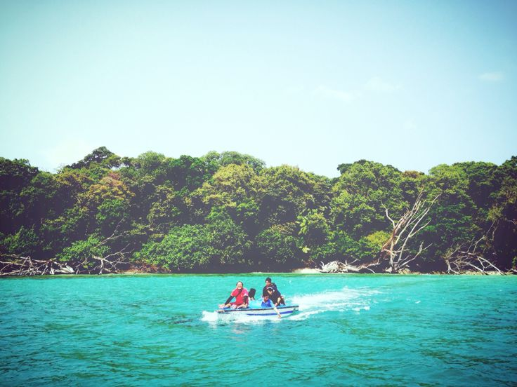 Speedboating at National Park Ujung Kulon, Banten, Indonesia