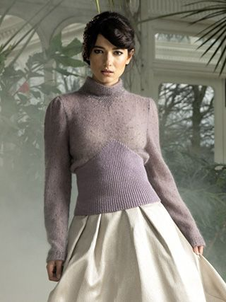 ELEGANT SWEATER from ROWAN Swarovski Evening (ZB188).The Evening Collection showcases eleven elegant designs which are the essence of glamour | English Yarns