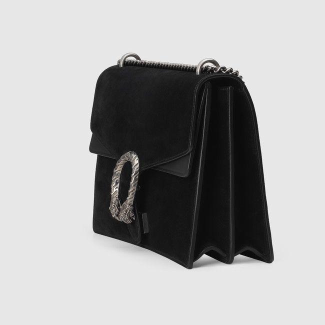 5e6297dc9c00 Gucci - Sac à épaule Dionysus en daim - daim noir   Gucci collections    Pinterest   Gucci, Handbags et Gucci handbags