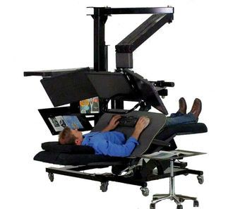 Zero Gravity Workstation 2a by ErgoQuest  Bob and I definitely need these!!!