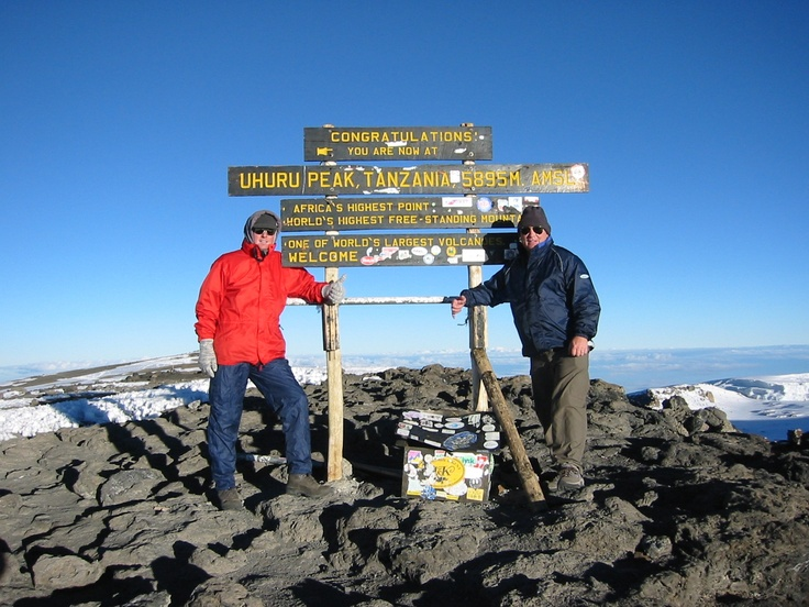 Kilimanjaro - One of my greatest challenges - and: I did it (left guy). #portele