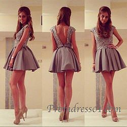 Cute handmade mini prom dress, homecoming dress #coniefox