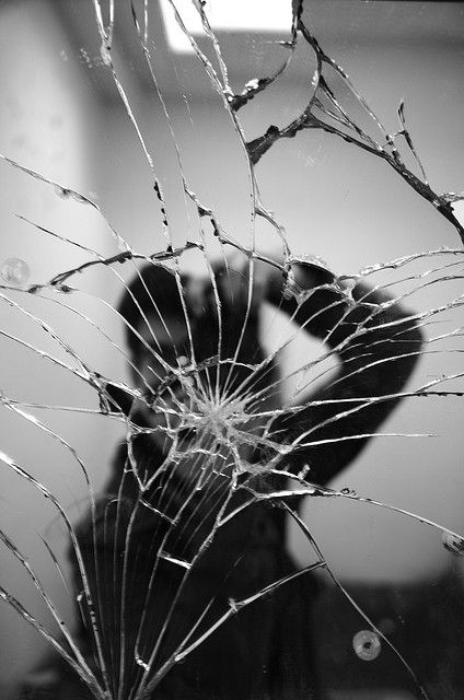 Broken Mirror Reflection by fbechwati, via Flickr