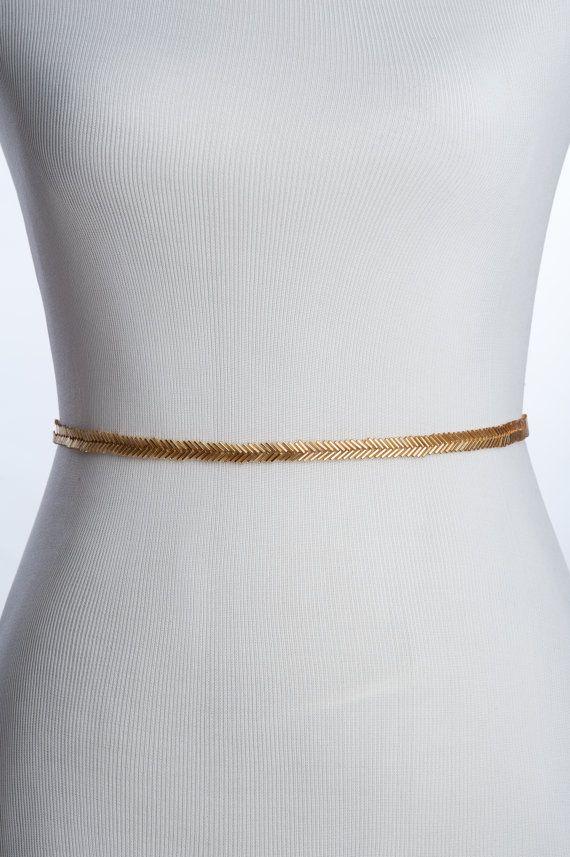 Skinny Gold Bridal Belt