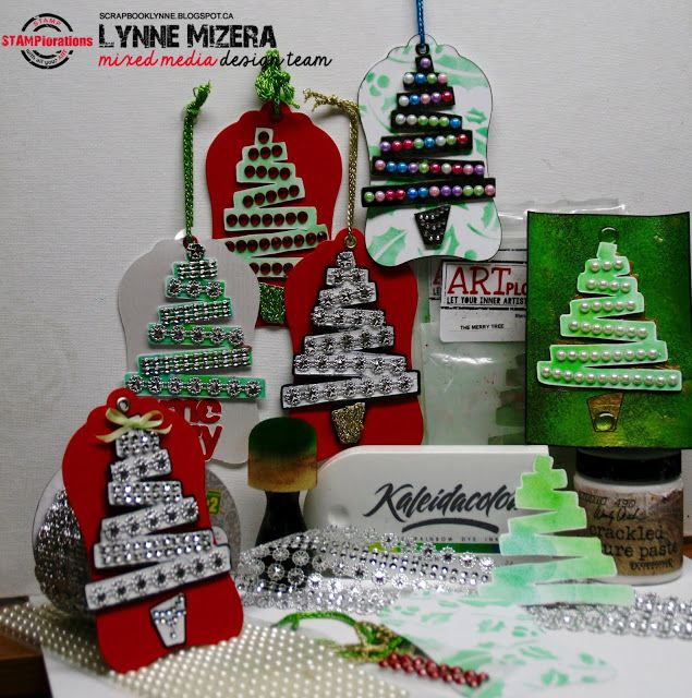Lynne's Art World: Christmas Tags that Sparkle and Glitter, For The STAMPlorations TAGplorations Blog Hop!