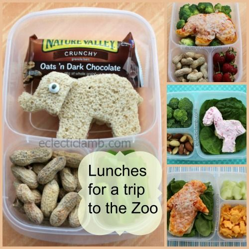 My husband and I took our nephews to the zoo. Of course I made themed lunches for each of us. They were quick to make with cookie cutters. The only template I had to make was for the flamingo. My h... #FunFoodFriday