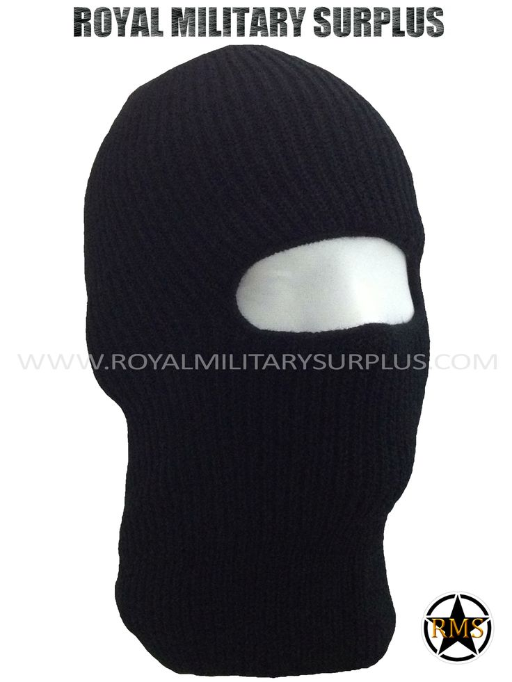 This BLACK Tactical Military Balaclava / Hood is in use by Canadian Forces. Made following Military Specifications (1 Hole Face Mask). All items are brand new and available. In use by Army, Military, Police and Special Forces of International Forces. Visit our Website at www.royalmilitarysurplus.com