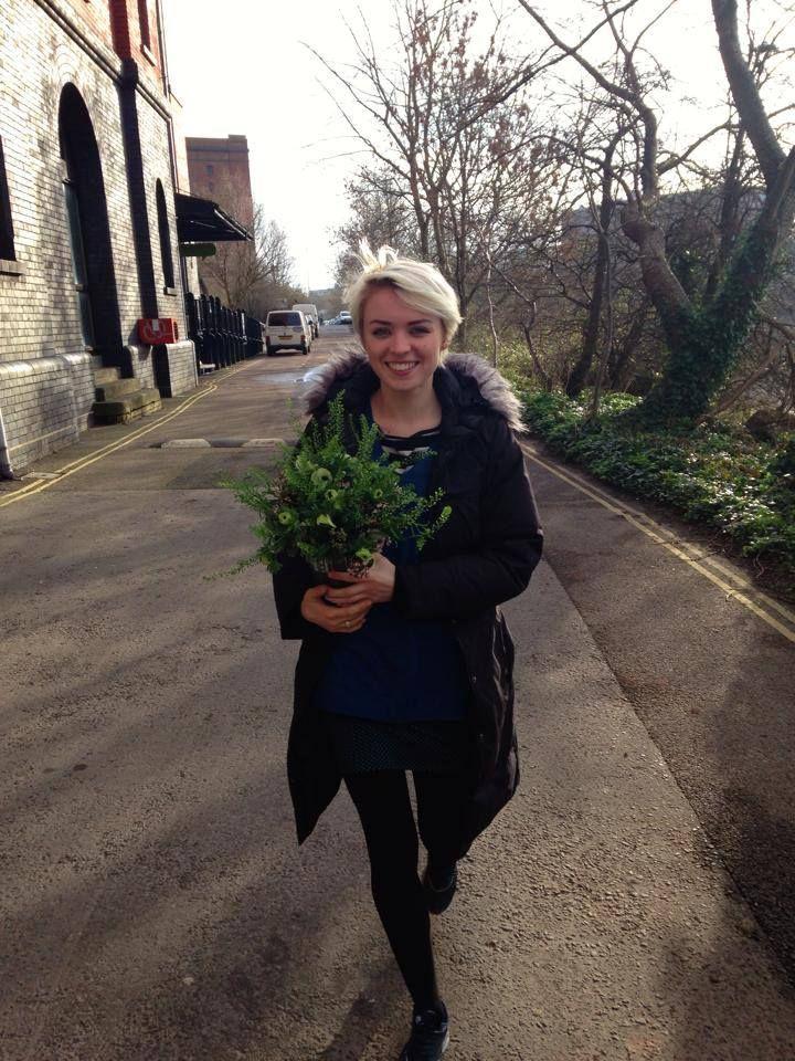 Wild Anemone bouquet in transit