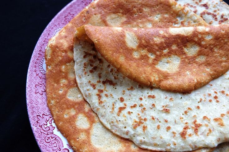 Sweet sorghum flour pancake with ground almonds, desiccated coconut and flax seeds