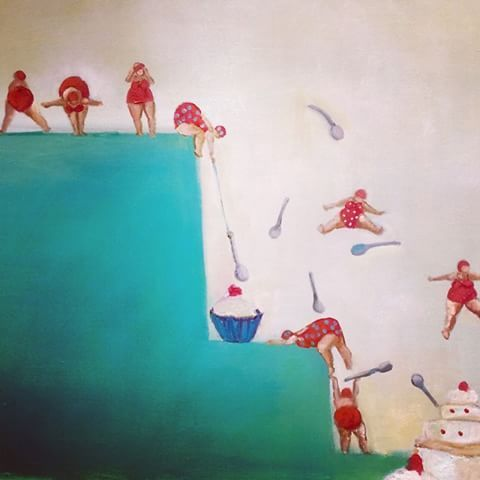 #CristinaTrovatoArte  Un pedacito de cuadro q estoy pintando - cristinatrovato_arte