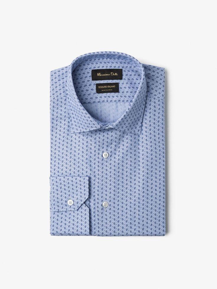 CHEMISE IMPRIMÉ CACHEMIRE SLIM pour HOMMES - Chemises habillées - Tout voir de Massimo Dutti pour la saison automne hiver 2016 à 59.95. L´sélégance au naturel!