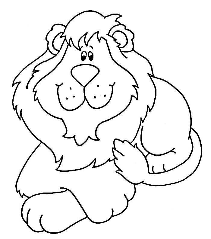 Jungle Animals Coloring Pages Preschool : 22 best lion coloring pages images on pinterest