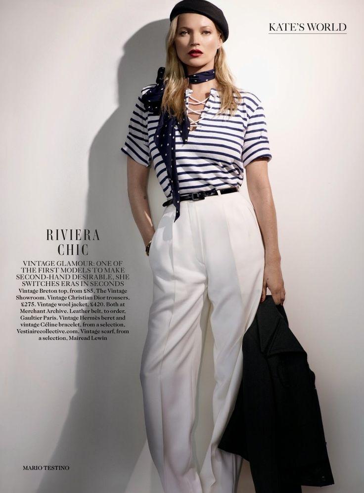 Кейт Мосс и Марио Тестино для Vogue UK