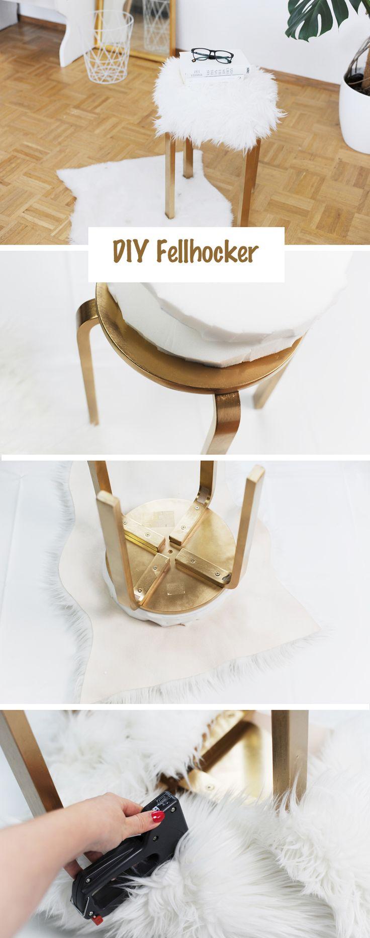 Günstige Möbel selber bauen: DIY-Fellhocker