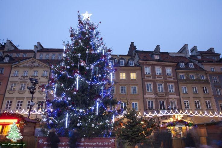 Świąteczna choinka na Starówce Warszawskiej 2012, choinka 5