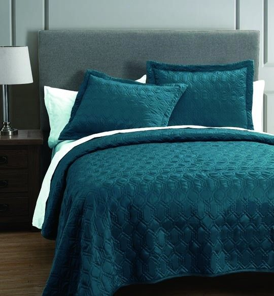 Rogen Teal 3 Piece Coverlet Set 14000 Now 45 At Annas