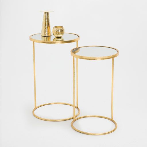 GOLDEN TALL LITTLE TABLES (SET OF 2)
