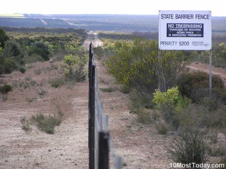 Most Incredible Man Made Barriers: Rabbit Proof Fence, Australia