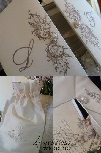 Luxurious Wedding Invitation Style. Replace pearls with diamond swarski elements.
