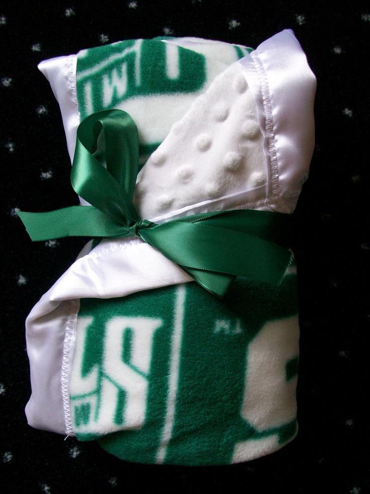 Michigan State Spartans Minky Baby Blanket. $32.00, via Etsy.