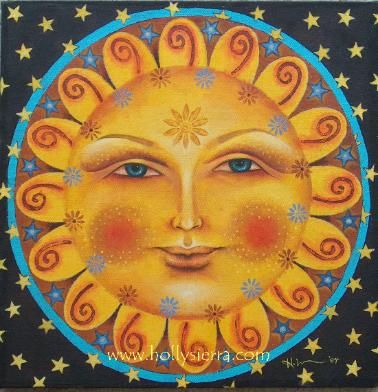 Artwork painting of Sun