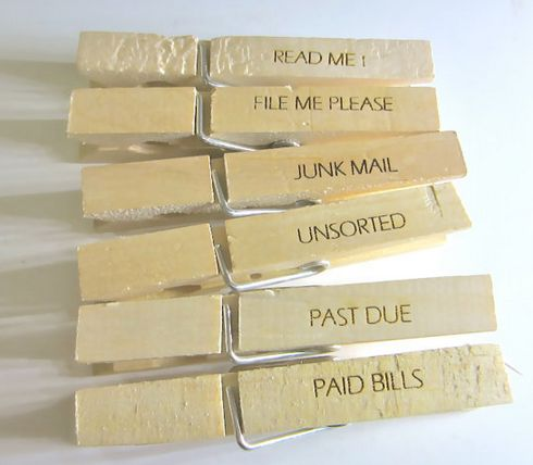 Office Organizing Clothespins