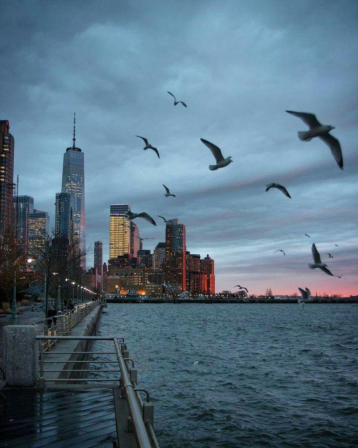 Sunset drama on the New York Harbor 1.23.18 <3 Photo: @maximusupinnyc