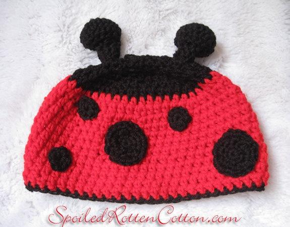 Photo Prop Lady Bug Crochet Hat Ready to ship fits size 1-3T. $20.00, via Etsy.