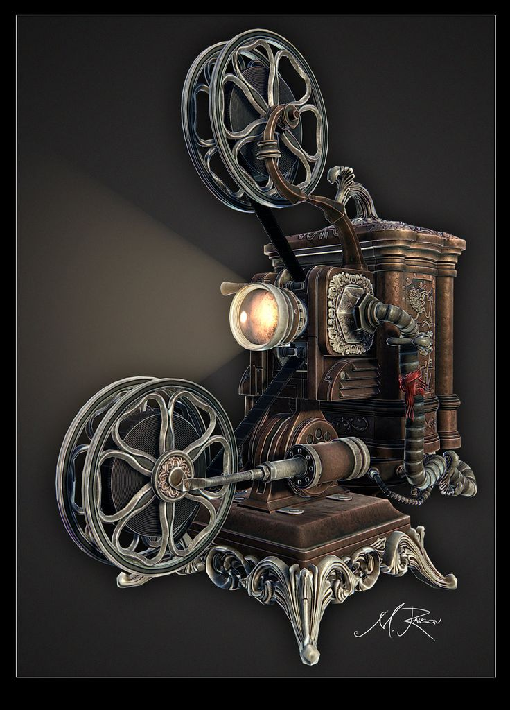 'Steampunk' Ampro Projector final01by ~lost-artist89  Designs & Interfaces / Game Development Art / 3D Game Art / Environments & Props / Props & Objects
